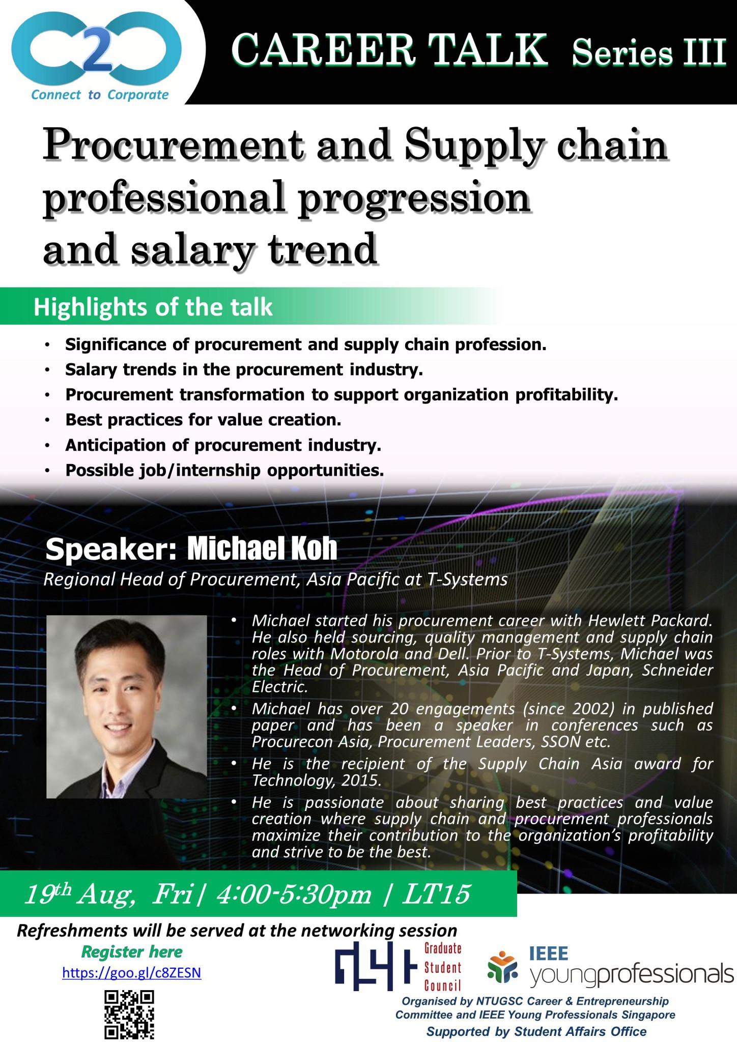 Career Talk Series III: Procurement and Supply Chain Professional