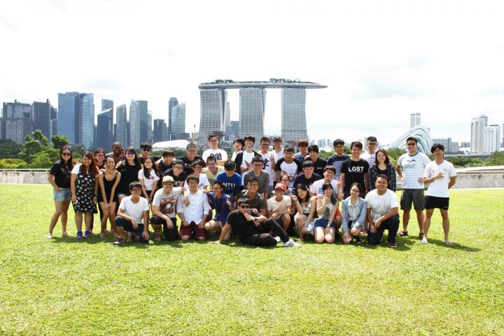 A group photo of NTU JAC Picnic